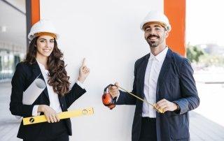 Construction helmet smile