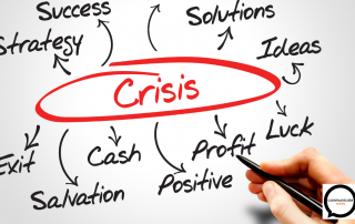 arrows pointing away from crisis